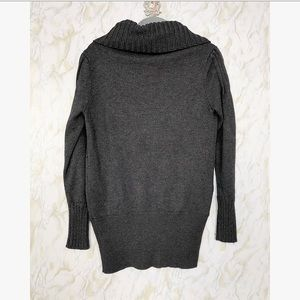 Anthropologie Sweaters - Anthro S grey cardigan chunky knit sweater button